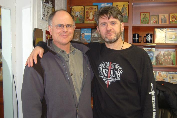Robert Burke with Vladimir Vasiliev at RMA HQ office, Toronto 2009