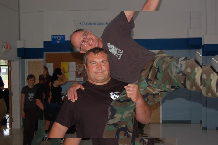 Sergey Makarenko and Robert Burke at Pacifica Seminar, California 8.30.09.